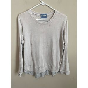 Monroe Vintage Distressed Layered Pullover Sweater
